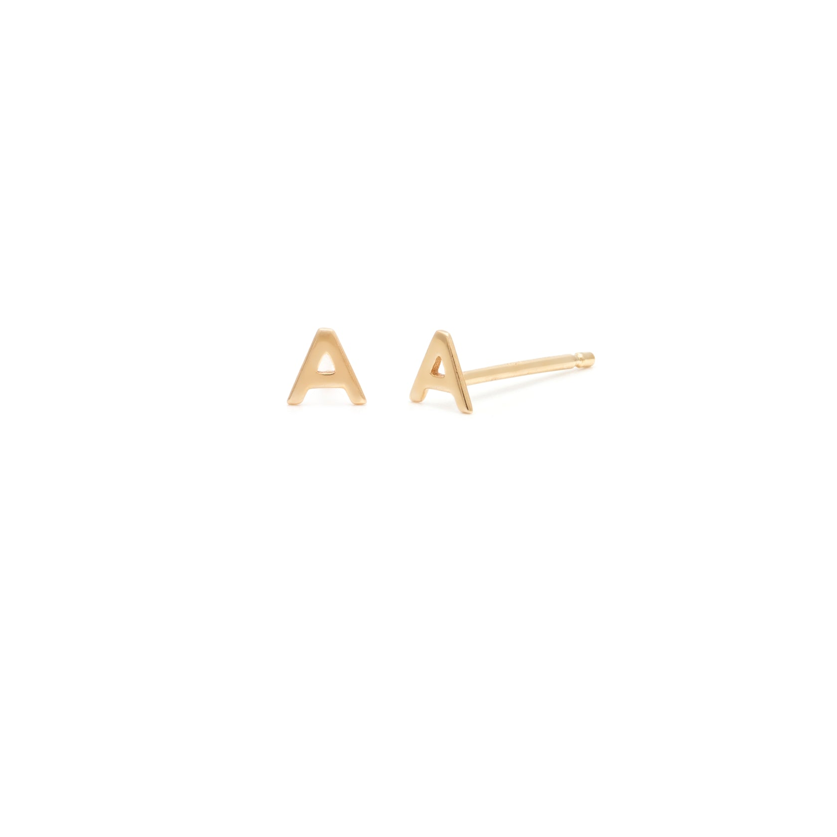 Individual Initial Stud - 14k Solid Gold