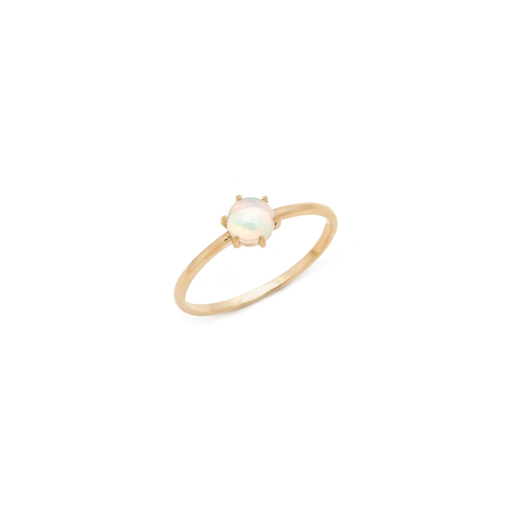 Prong Opal Ring - 14k Solid Gold