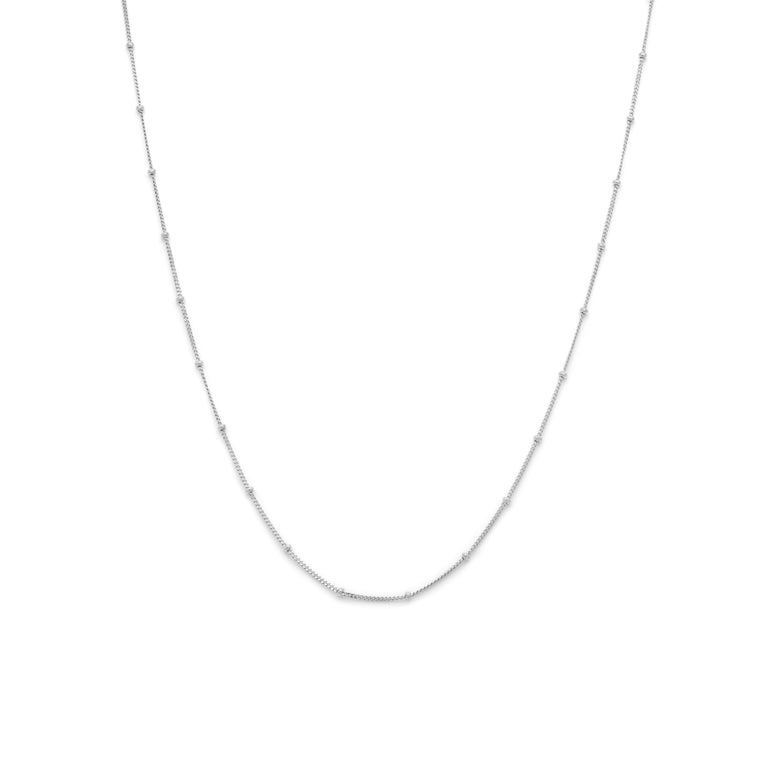 Station Chain - Sterling Silver