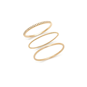 The Talia Ring Stack - 14k Solid Gold