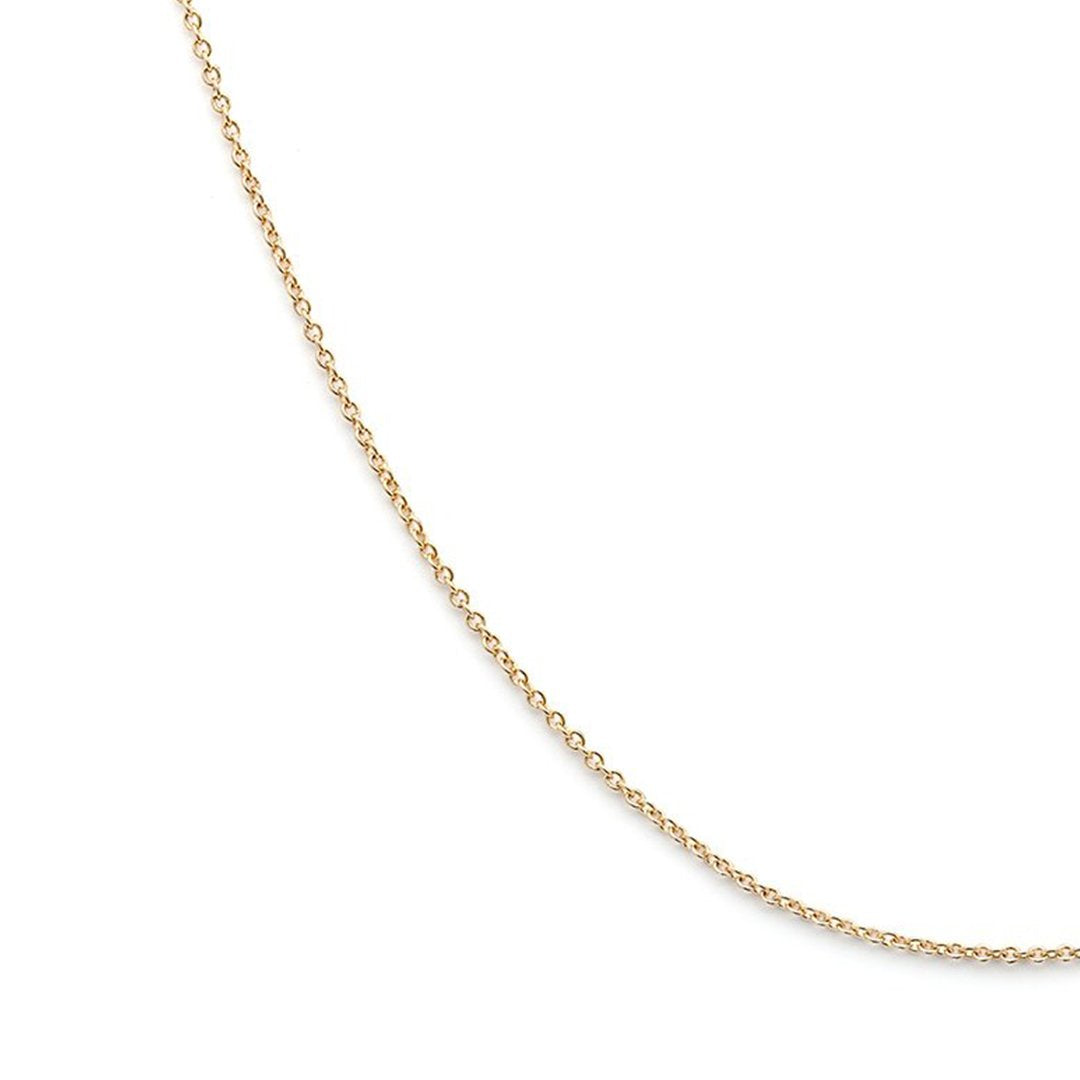 Thin Cable Chain - 14k Solid Gold