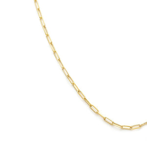 Thin Staple Chain - Gold Vermeil