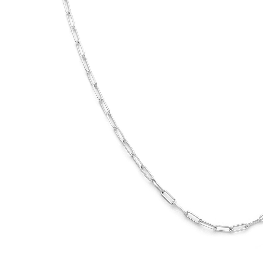 Thin Staple Chain - Sterling Silver