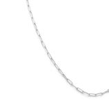 Load image into Gallery viewer, Thin Staple Chain - Sterling Silver