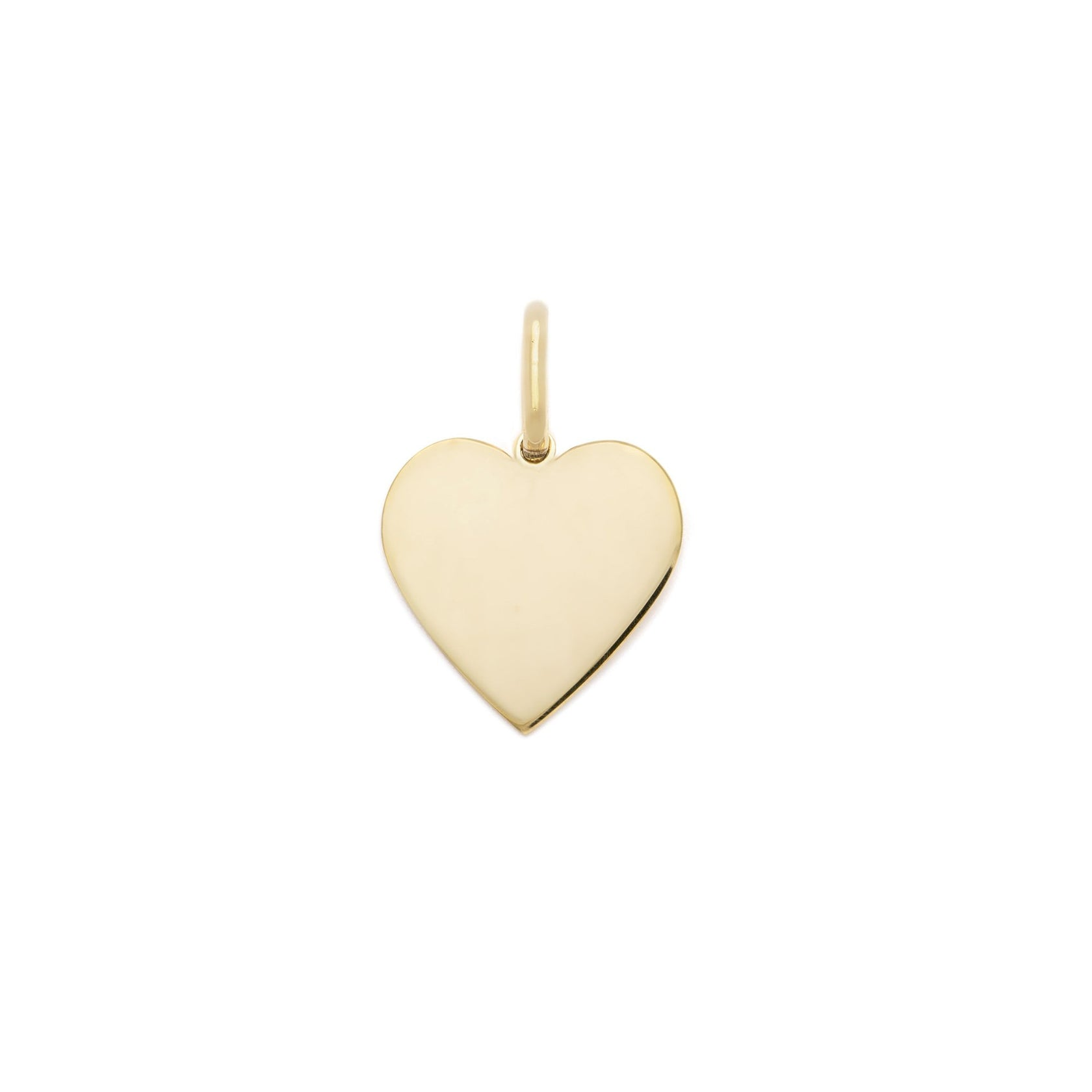 15mm Heart Charm - 14k Gold Vermeil