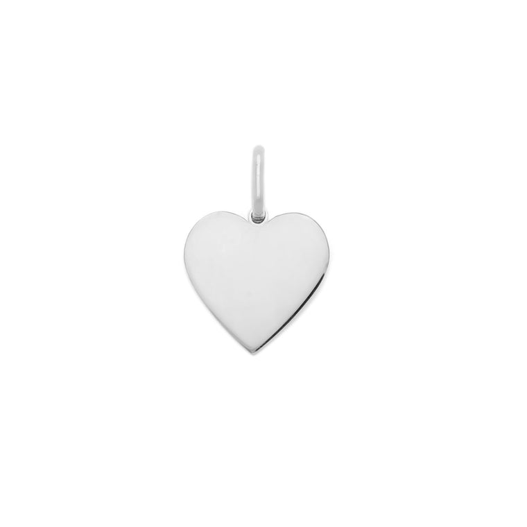 15mm Heart Charm - Sterling Silver