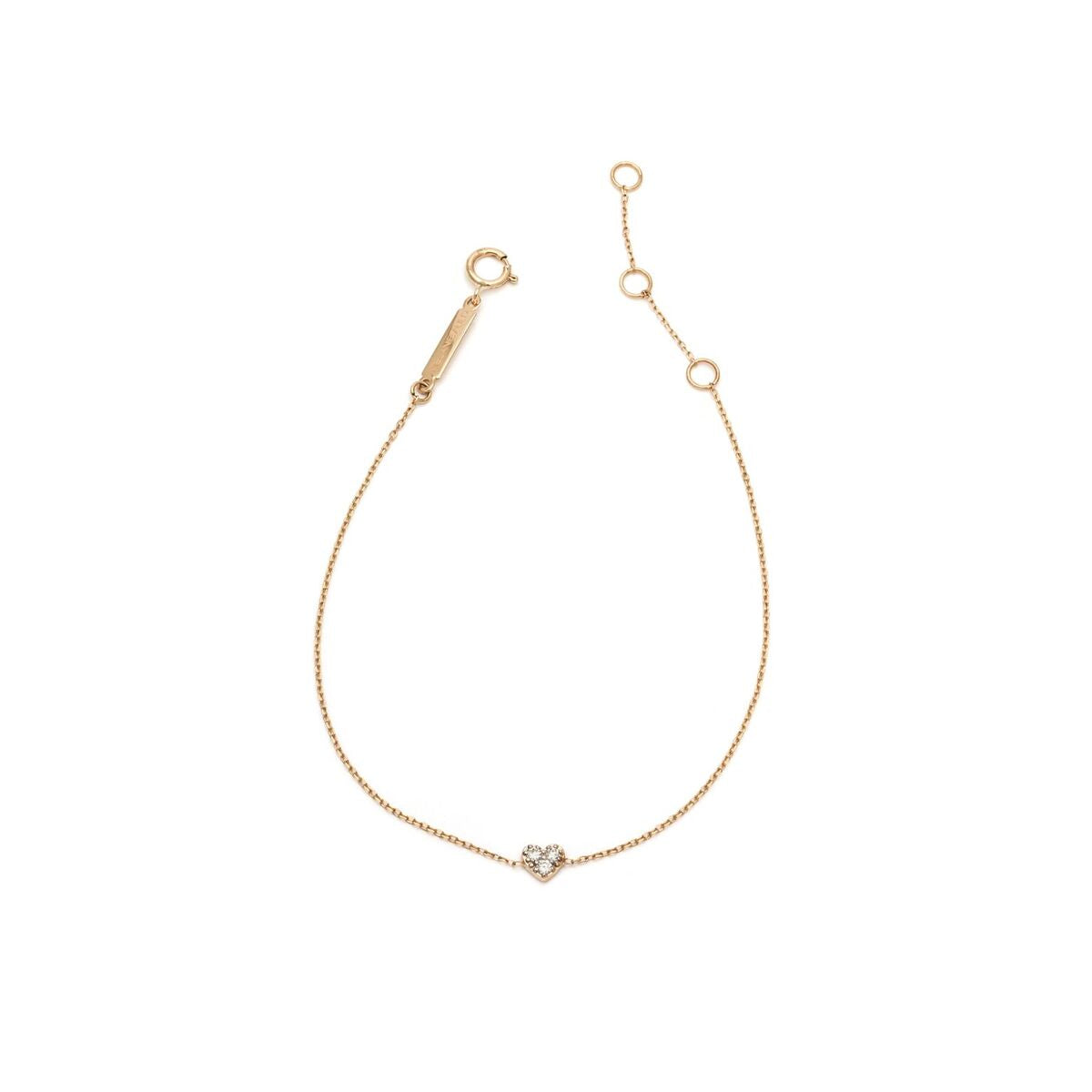 Diamond Heart Bracelet - 14k Solid Gold