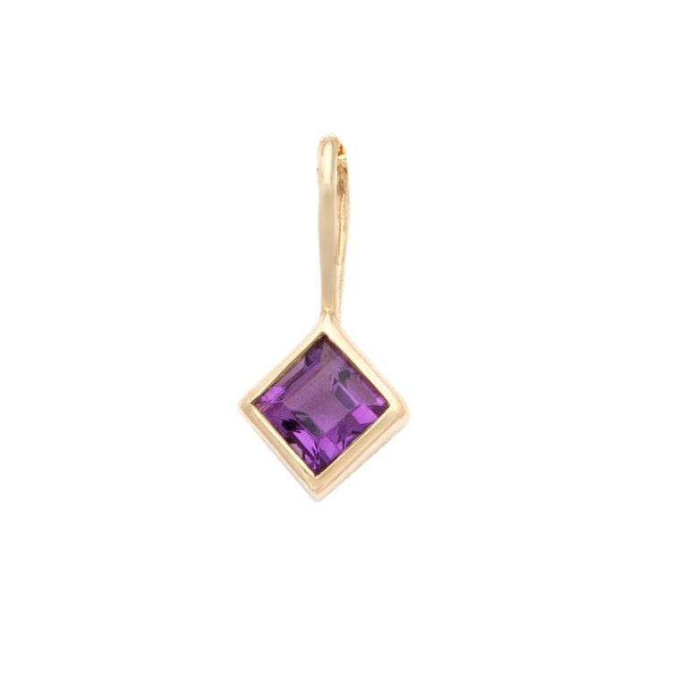 Amethyst Pendant - 14k Solid Gold