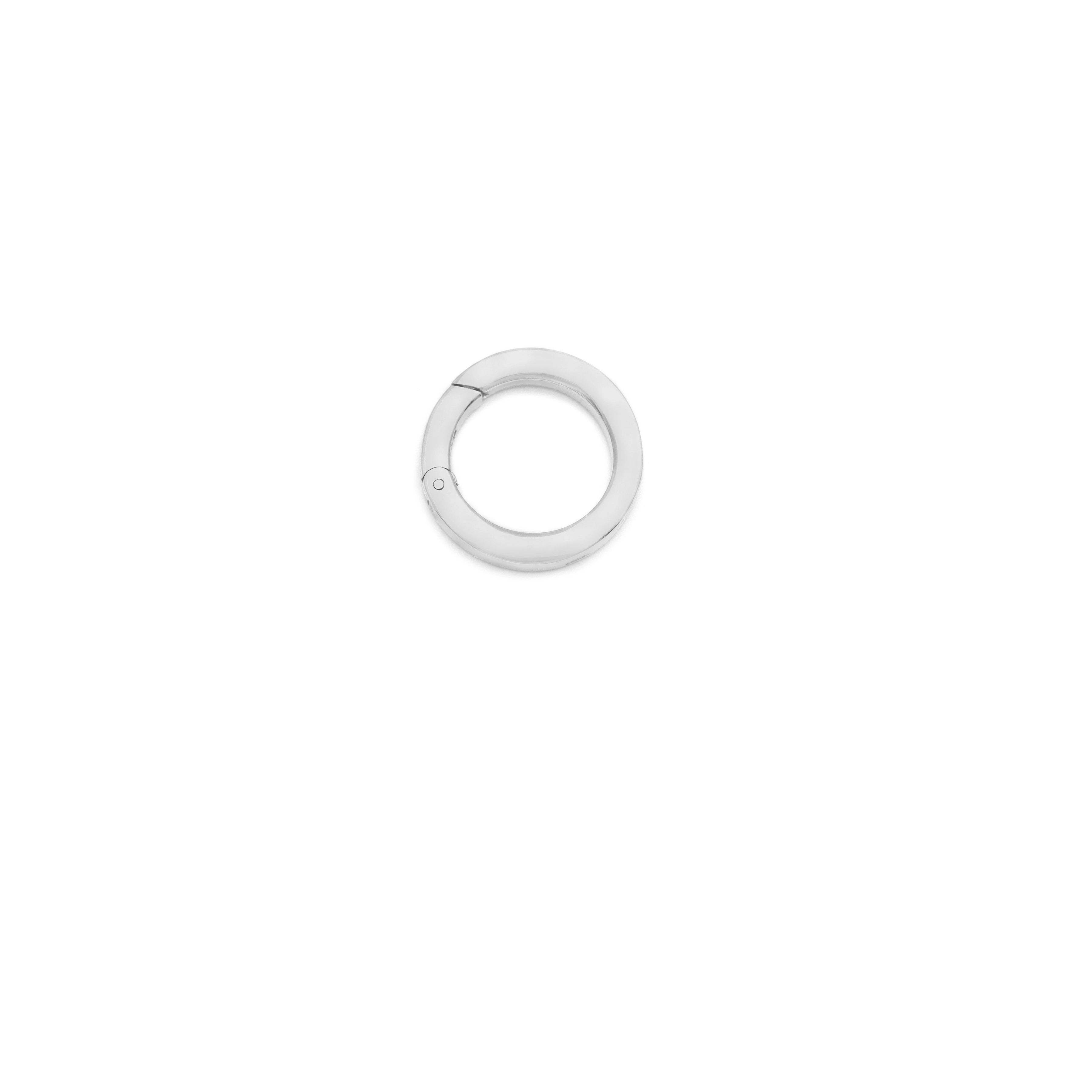 Round Charm Clasp - Sterling Silver