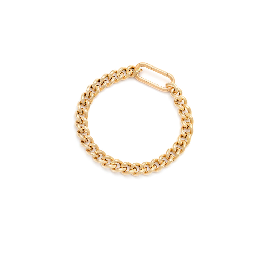 Leuca Bracelet - Brass/Gold/Moonstone