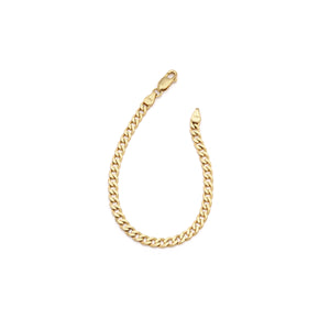 Thick Curb Chain Bracelet - 10k Solid Gold