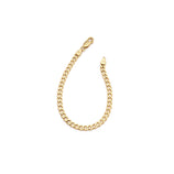 Load image into Gallery viewer, Thick Curb Chain Bracelet - 10k Solid Gold
