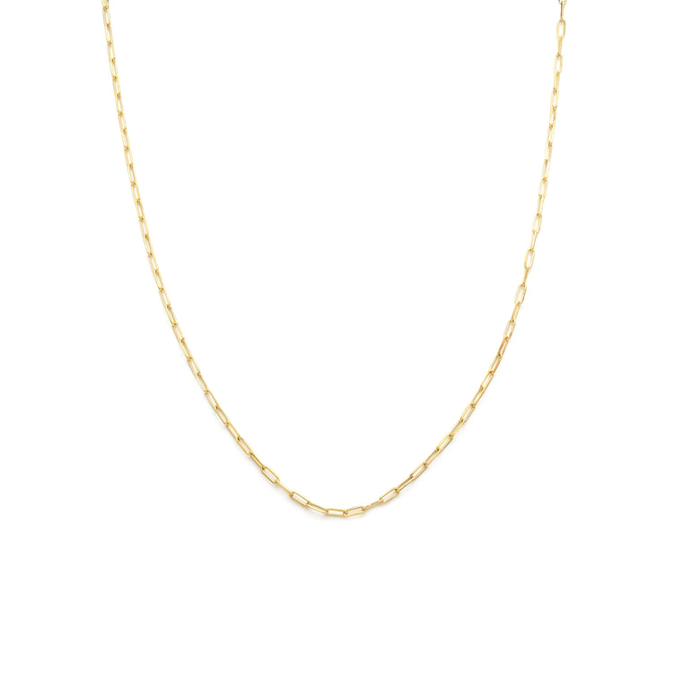 Men's Thin Staple Chain - Gold Vermeil