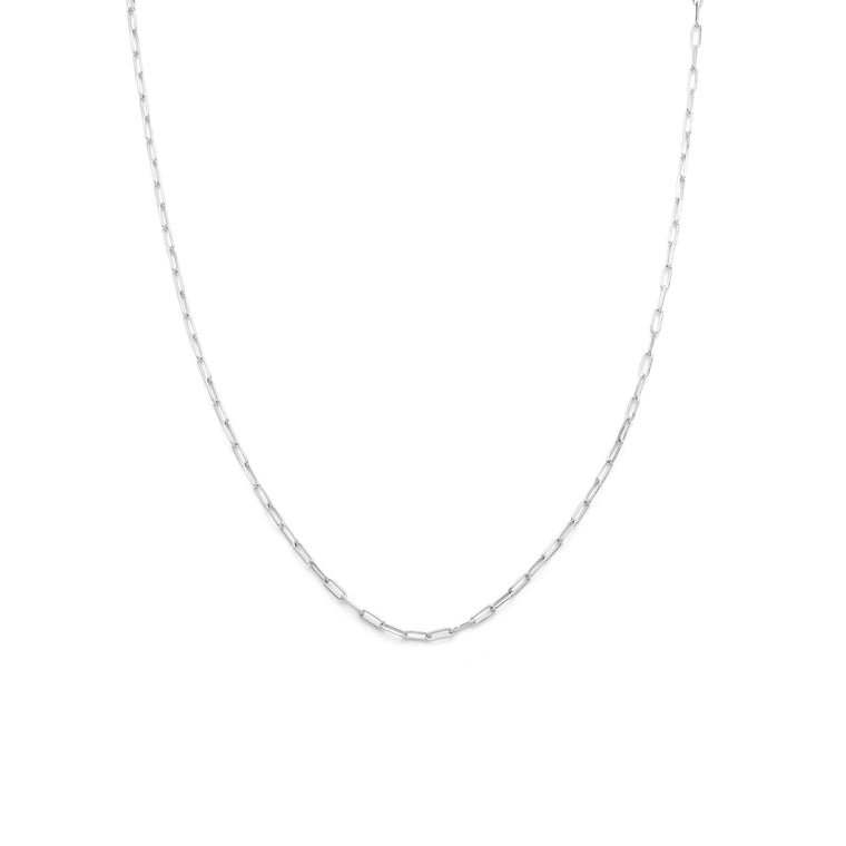 Men's Thin Staple Chain - Sterling Silver