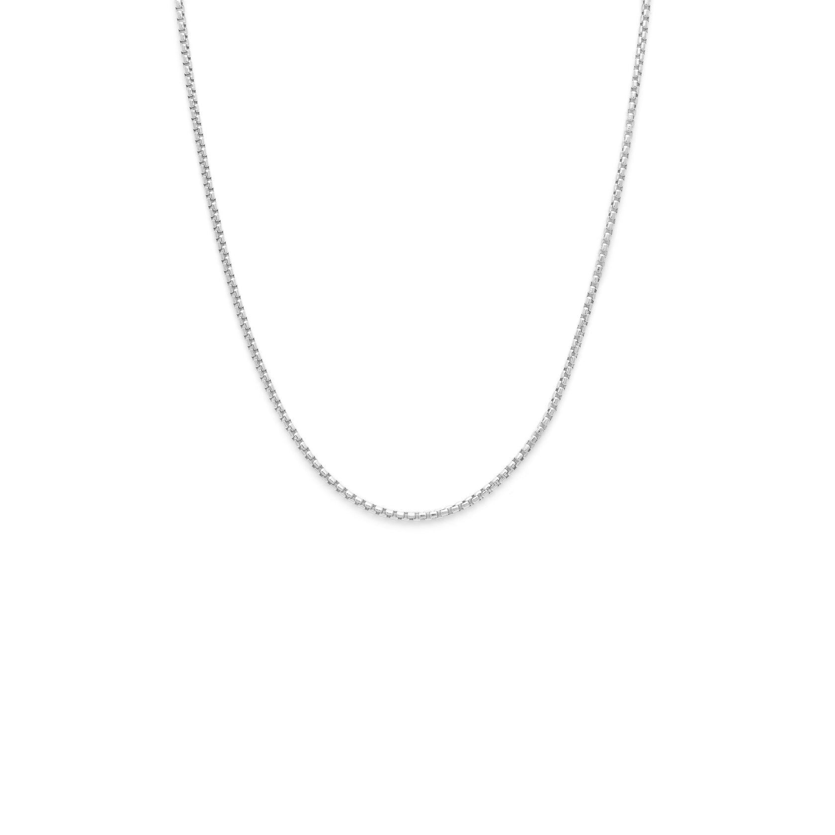 Thick Box Chain - Sterling Silver