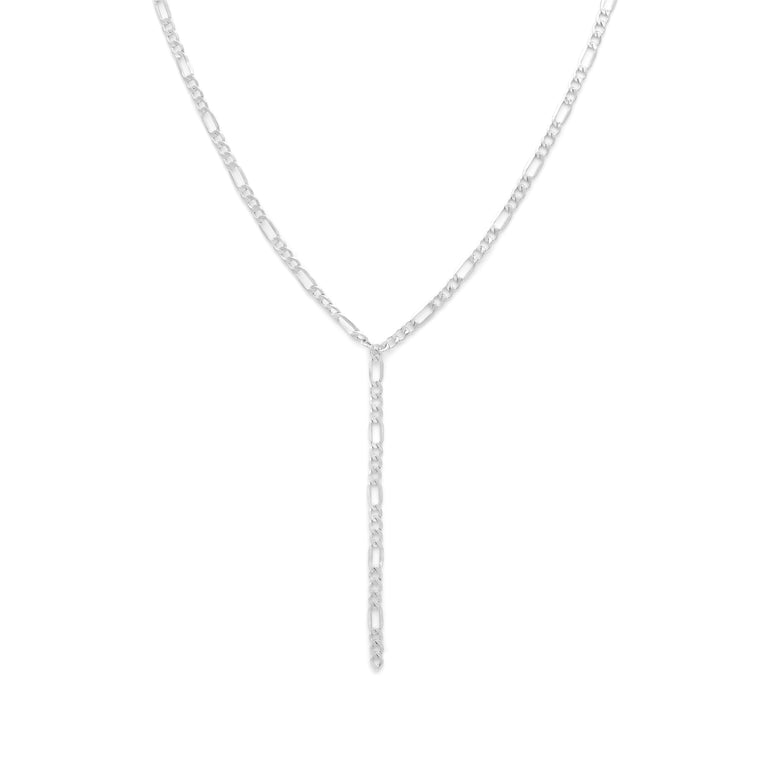 Thick Figaro Lariat - Sterling Silver