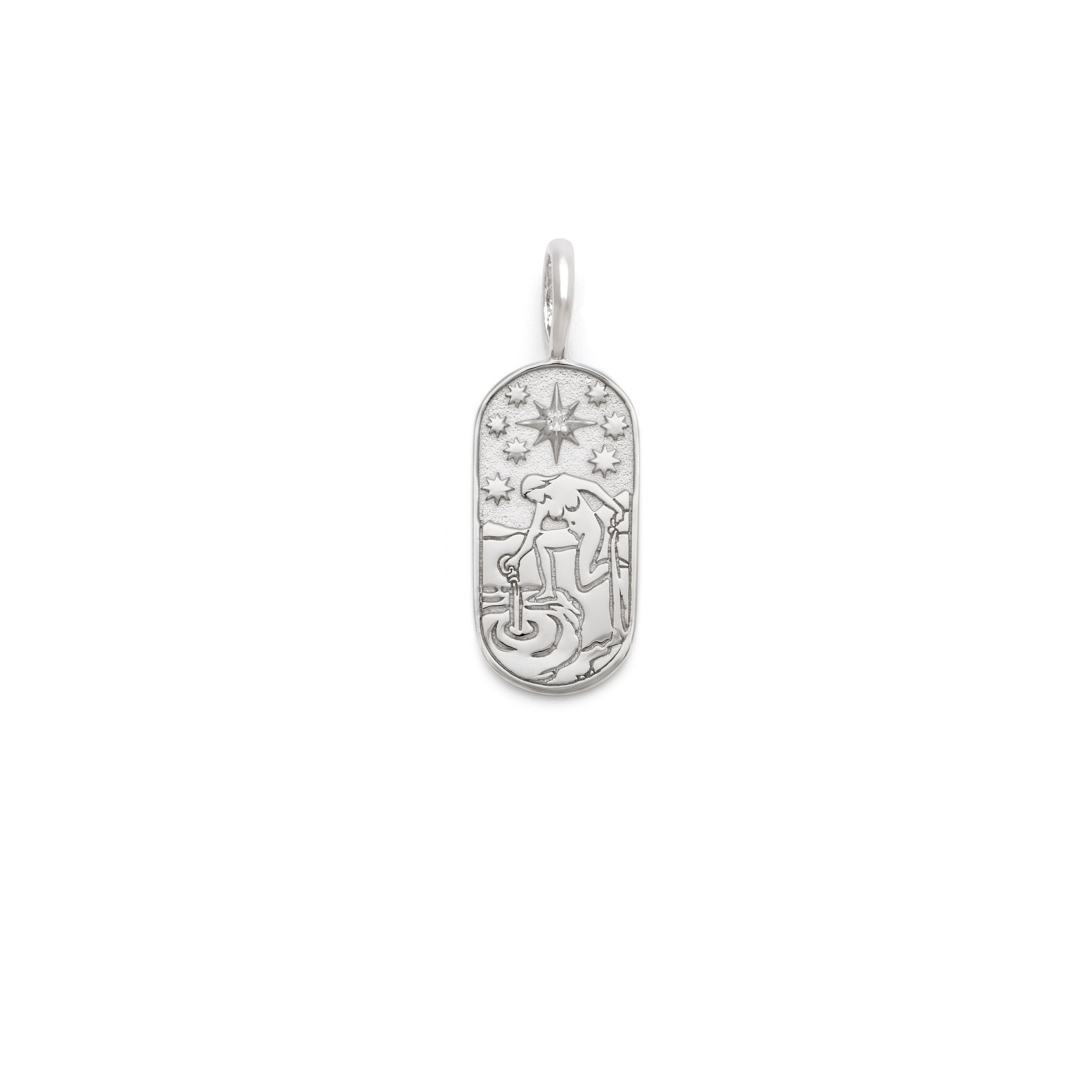 The Star Tarot Pendant - Sterling Silver