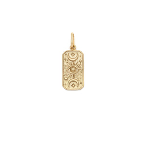 The Moon Tarot Pendant - 10k Solid Gold