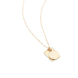 Load image into Gallery viewer, Tag Duo Charm Necklace - 10k Solid Gold