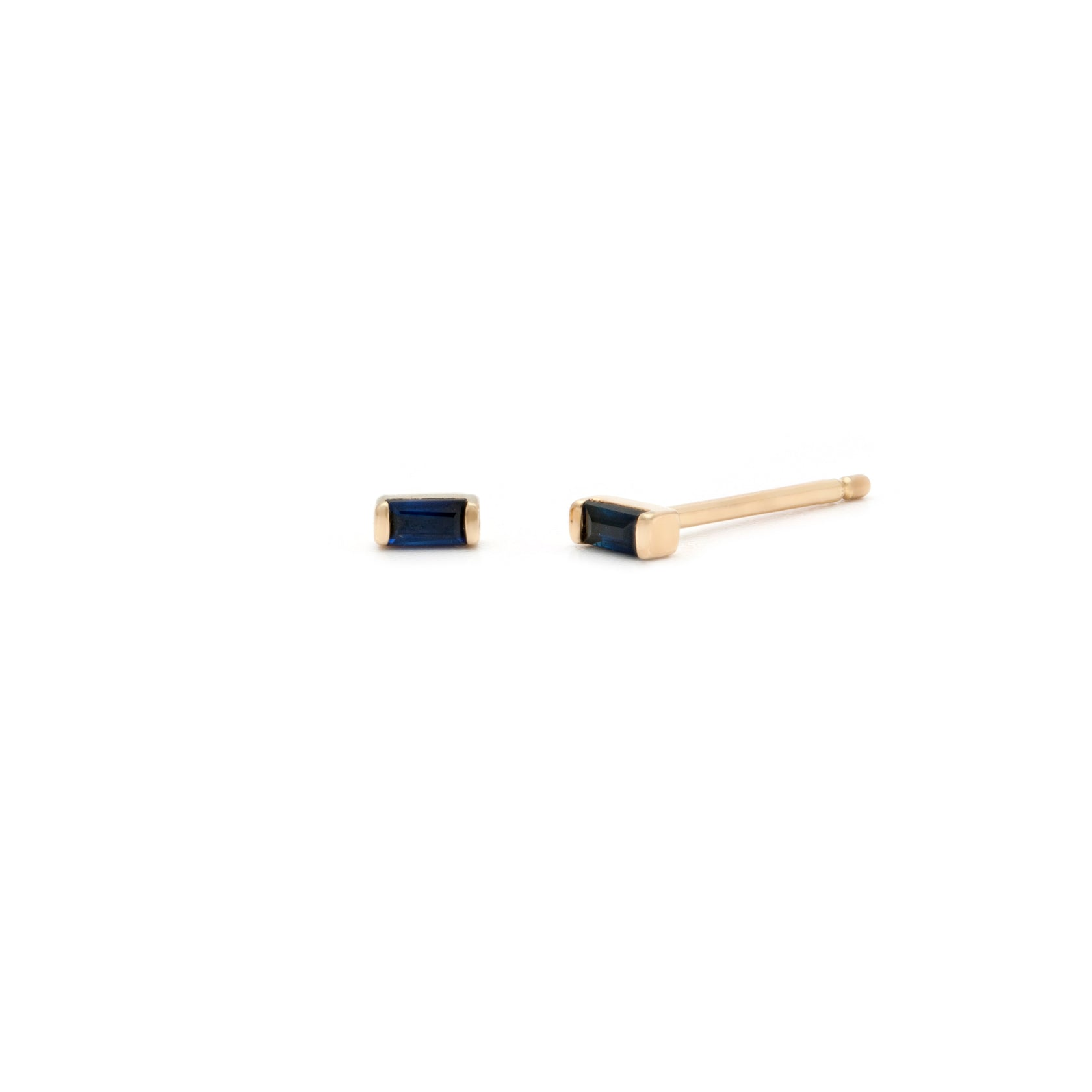 Coveted Sapphire Stud - 14k Solid Gold