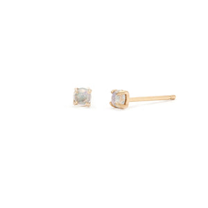 Coveted Moonstone Stud - 14k Solid Gold