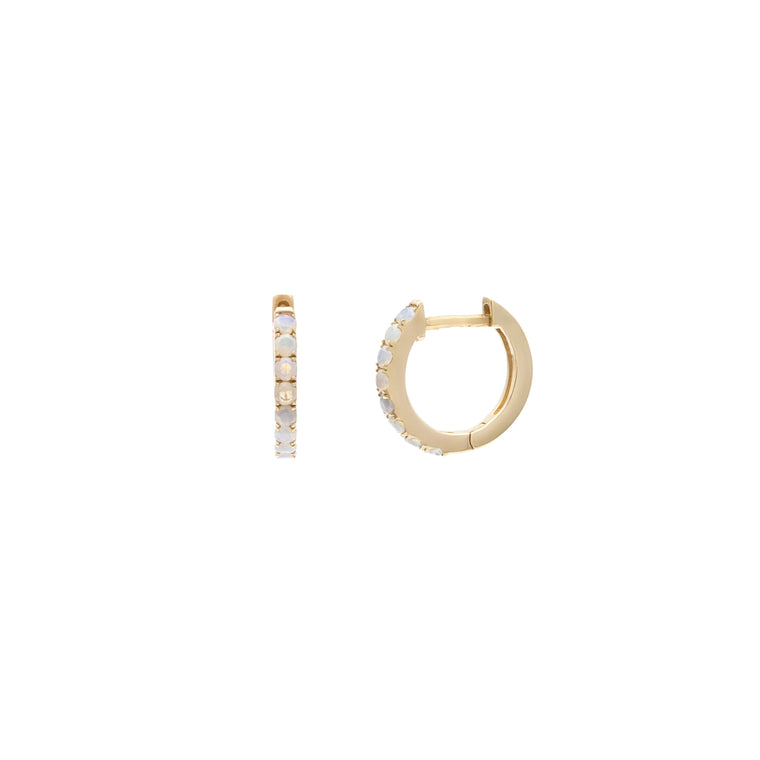 Baby Opal Huggies - 14k Solid Gold