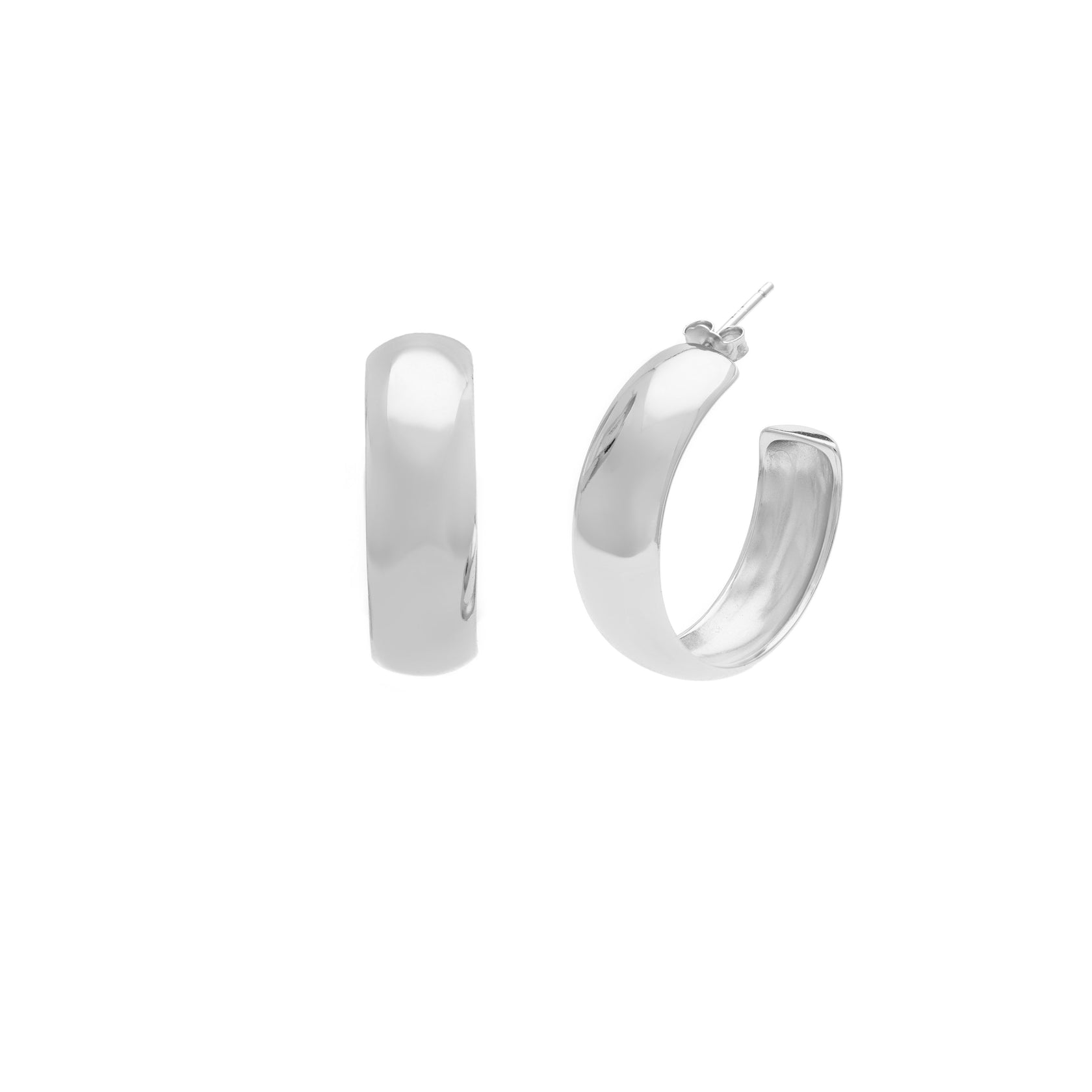 Oro Hoops - Sterling Silver