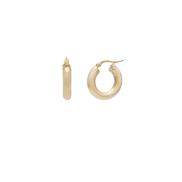 10mm Chubby Hoops - 10k Gold