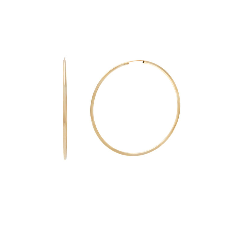 50mm Siena Hoops - 10k Gold