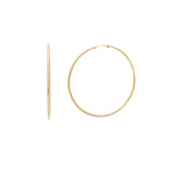 Load image into Gallery viewer, 50mm Siena Hoops - 10k Gold