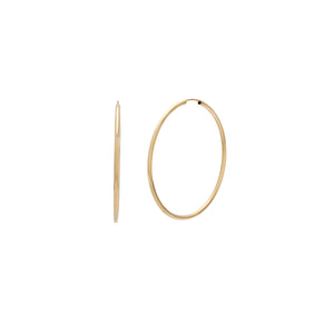 40mm Siena Hoops - 10k Gold