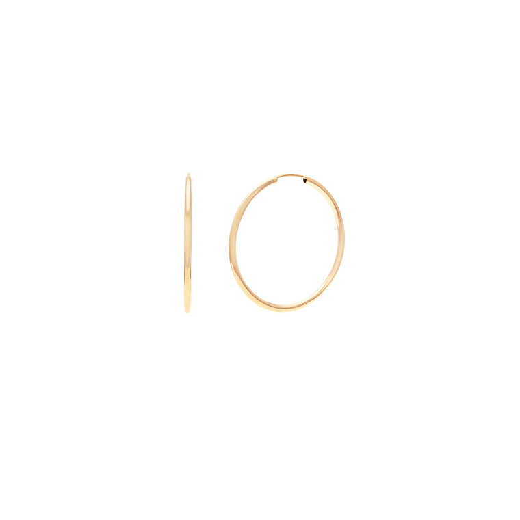 30mm Siena Hoops - 10k Gold
