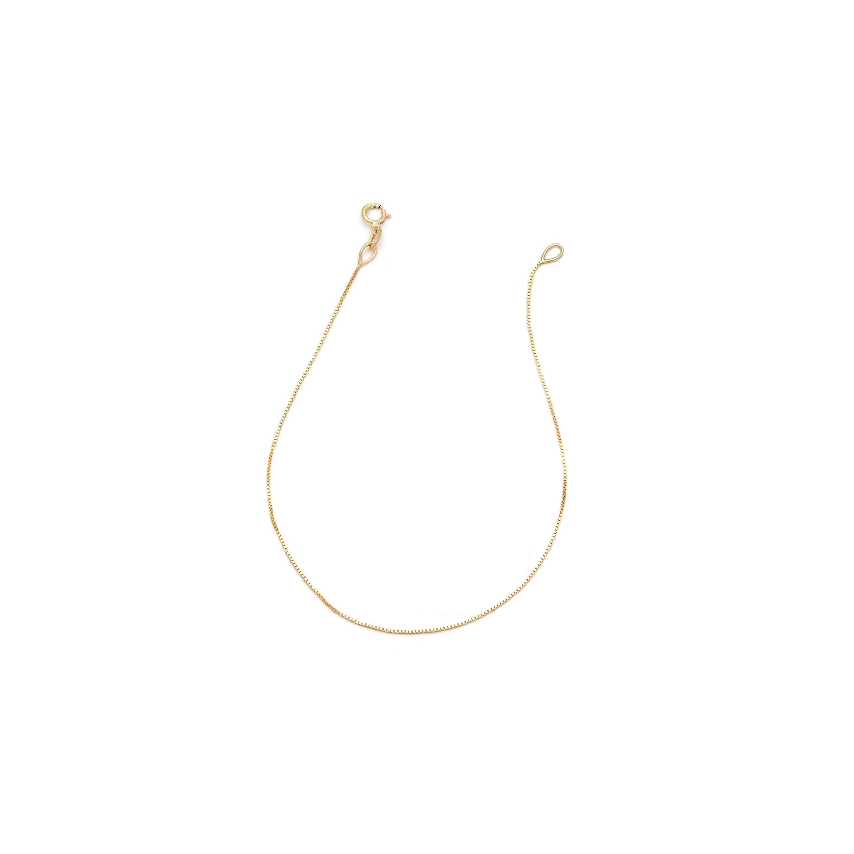Box Chain Anklet - 10k Solid Gold