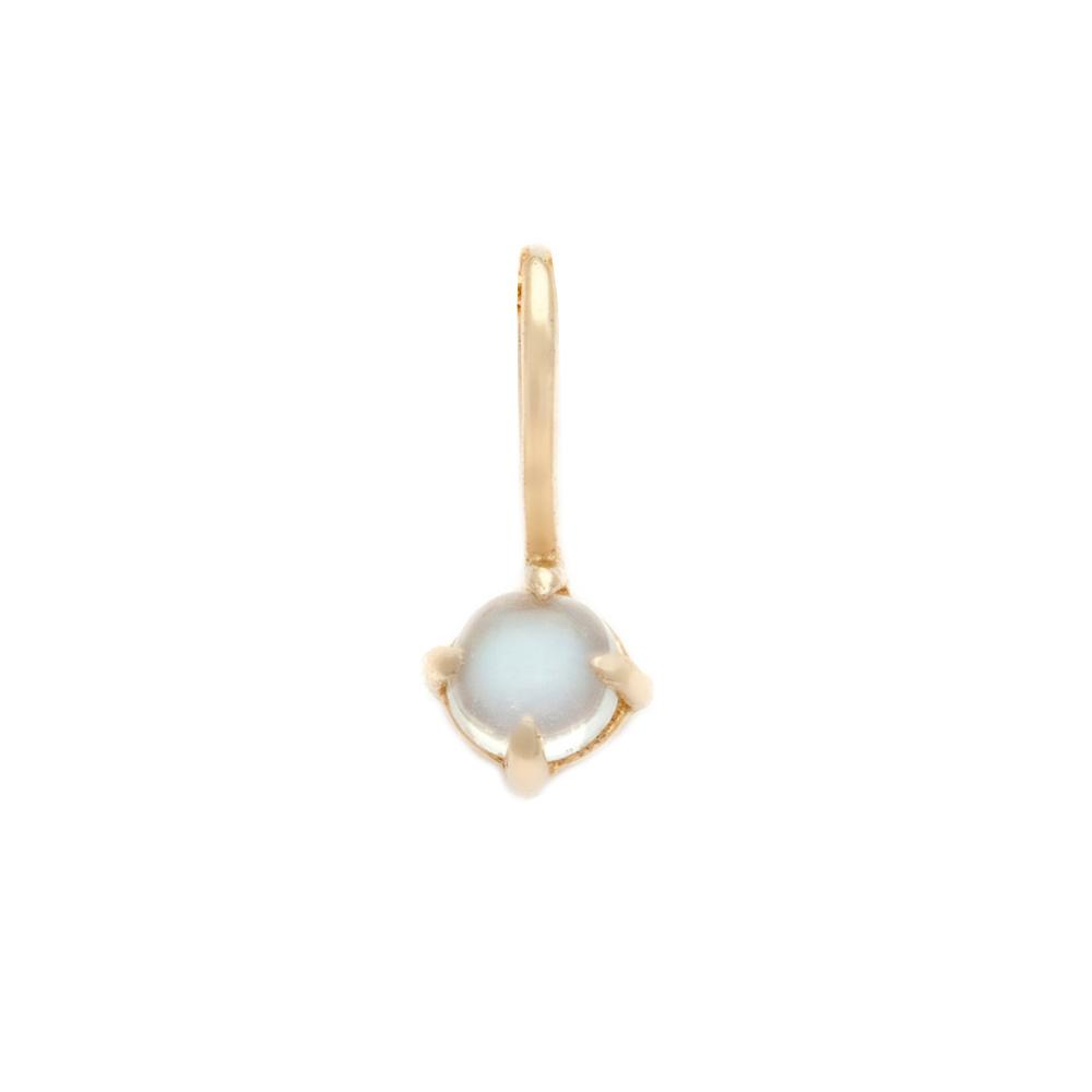 Moonstone Pendant - 14k Solid Gold