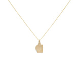 Load image into Gallery viewer, Mini Tag Duo Charm Necklace - Gold Vermeil