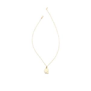 Mini Tag Duo Charm Necklace - Gold Vermeil