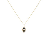 Load image into Gallery viewer, Onyx Enamel Evil Eye Pendant - Gold Vermeil/Mother of Pearl