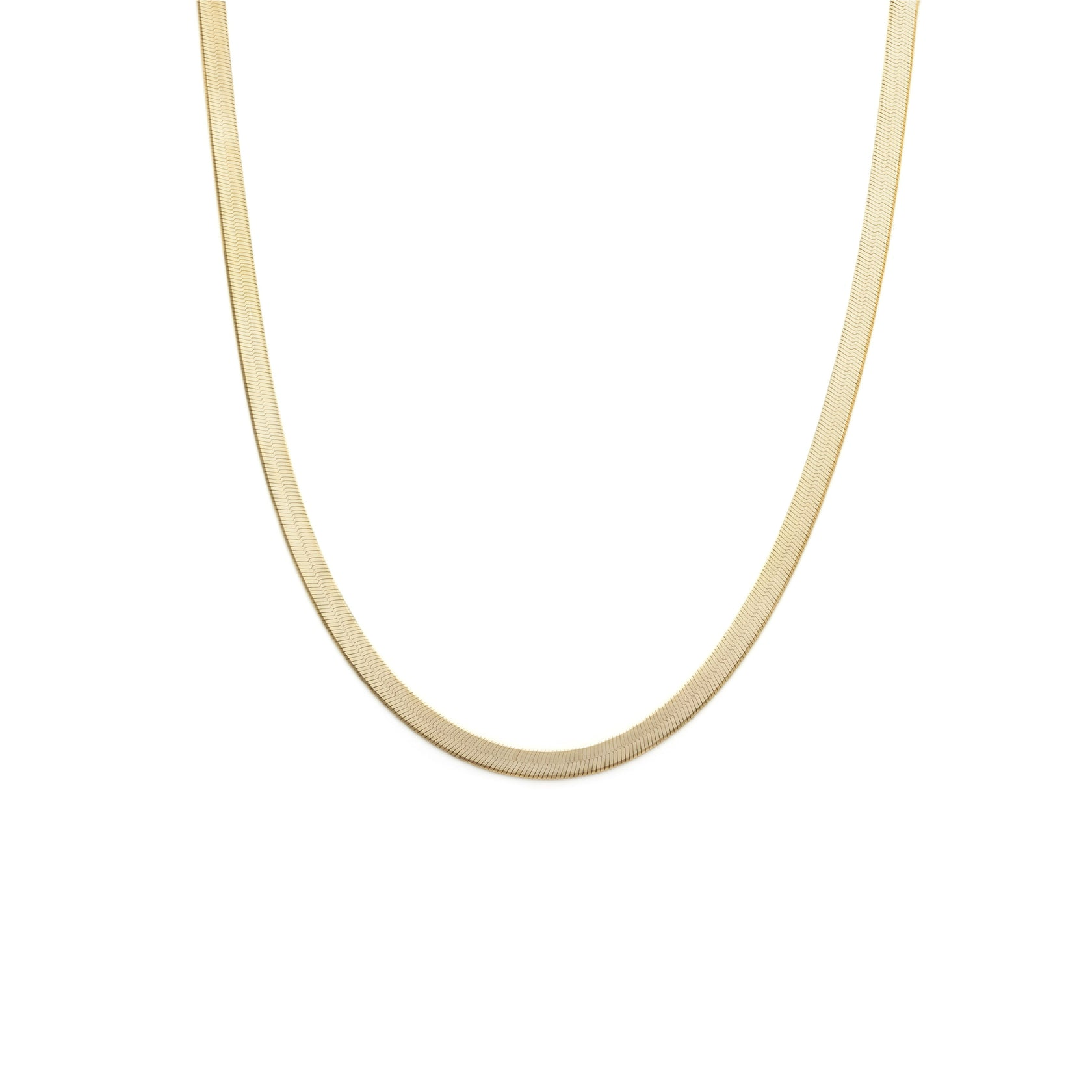4.5mm Herringbone Chain - Gold Vermeil