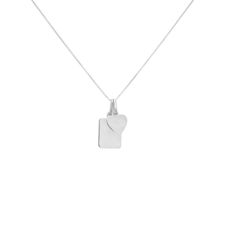 Amore Charm Necklace - Sterling Silver