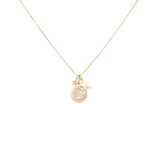 Load image into Gallery viewer, My Sun, My Moon, and All My Stars Charm Necklace - 10k Solid Gold