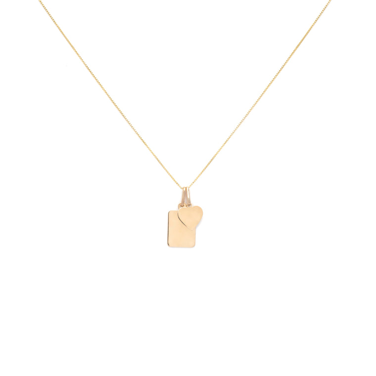 Amore Charm Necklace - Gold Vermeil