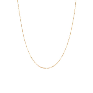 Delicate Staple Chain - 10k Solid Gold