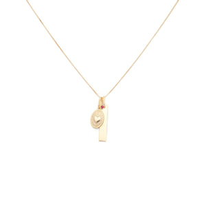 Eternal Love Charm Necklace - 10k Solid Gold