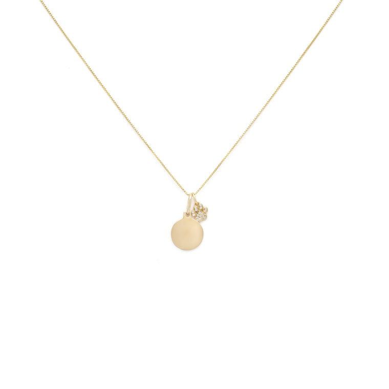 Pet Lovers Charm Necklace - Gold Vermeil