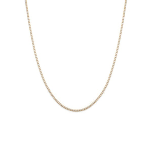 White Topaz Tennis Necklace - Gold Vermeil
