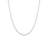 Load image into Gallery viewer, White Topaz Tennis Necklace - Gold Vermeil
