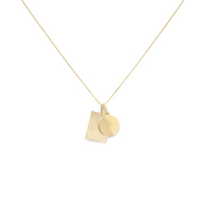 Tag Duo Charm Necklace - Gold Vermeil