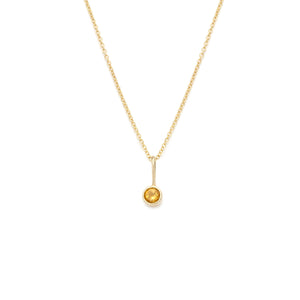Coveted Citrine Pendant - 14k Solid Gold