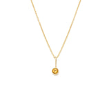 Load image into Gallery viewer, Citrine Pendant - 14k Solid Gold