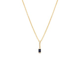 Load image into Gallery viewer, Sapphire Pendant - 14k Solid Gold